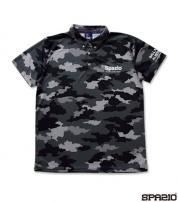 TP-0492-02 CAMUFFAMENTOポロシャツ BLACK