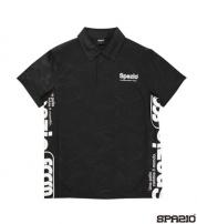 TP-0506-02 カモフラエンボスポロシャツ Black