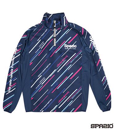 ジュニアダイアゴナルストライプクロスハーフジップジャケット