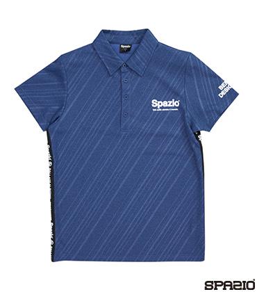 ダイアゴナルストライプエンボスポロシャツ