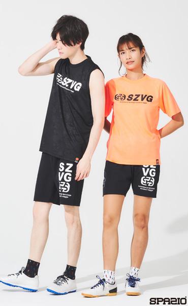 SZVGエンブレム総柄エンボスプラシャツ